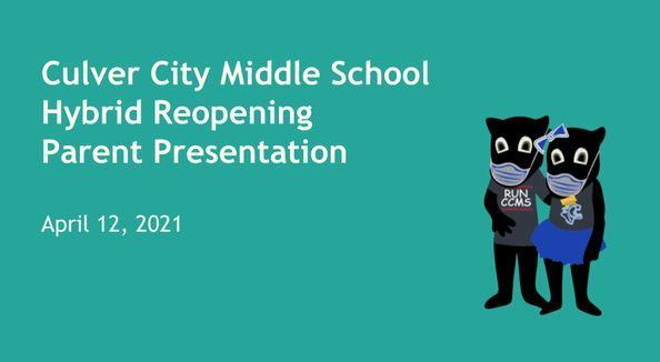 Reopening Presentation (Including what your child needs to bring to school) Thumbnail Image