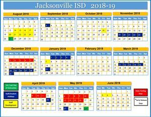 2018-19 picture of school calendar