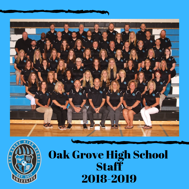 Oak Grove High School Staff Photo 2018-19