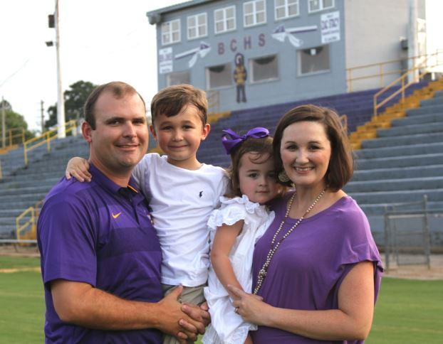 Head Football Coach and Family: Matt Geohagan, wife Coty Geohagan, son Mitt Geohagan, daughter Saylor Geohagan