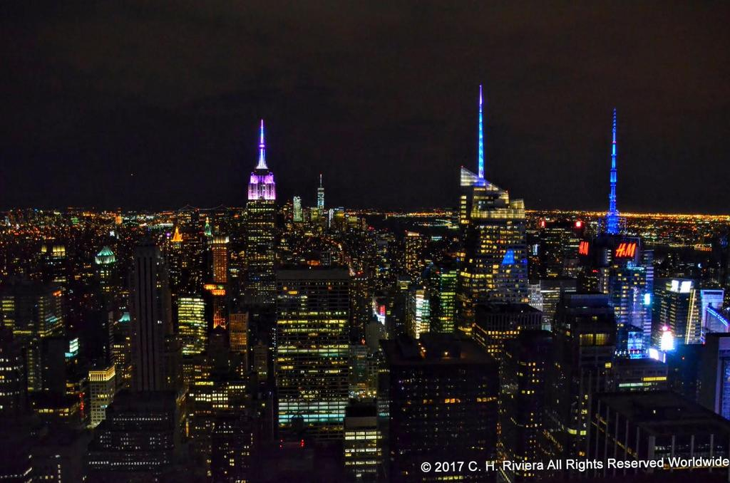 NYC skyline from Top of the Rock
