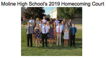 Congratulations to the MHS 2019 Homecoming Court Featured Photo