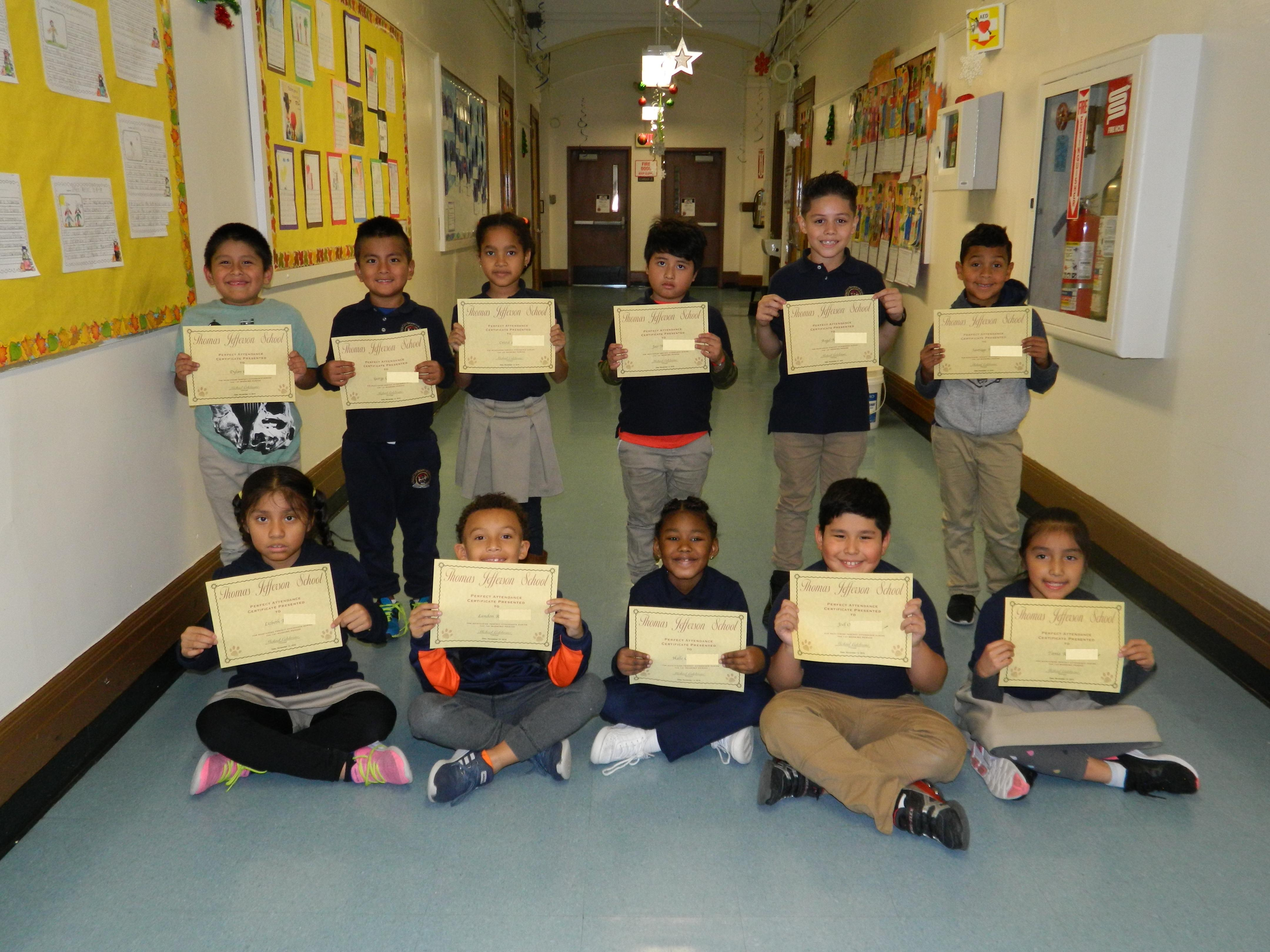 2nd Grade Perfect Attendance Group