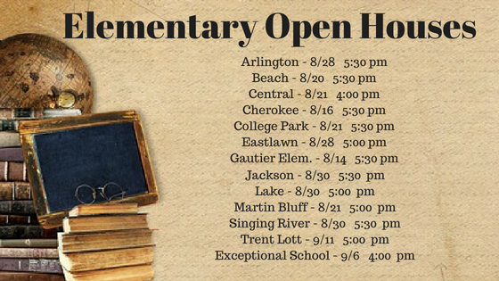 Elementary and JCES Open House Dates