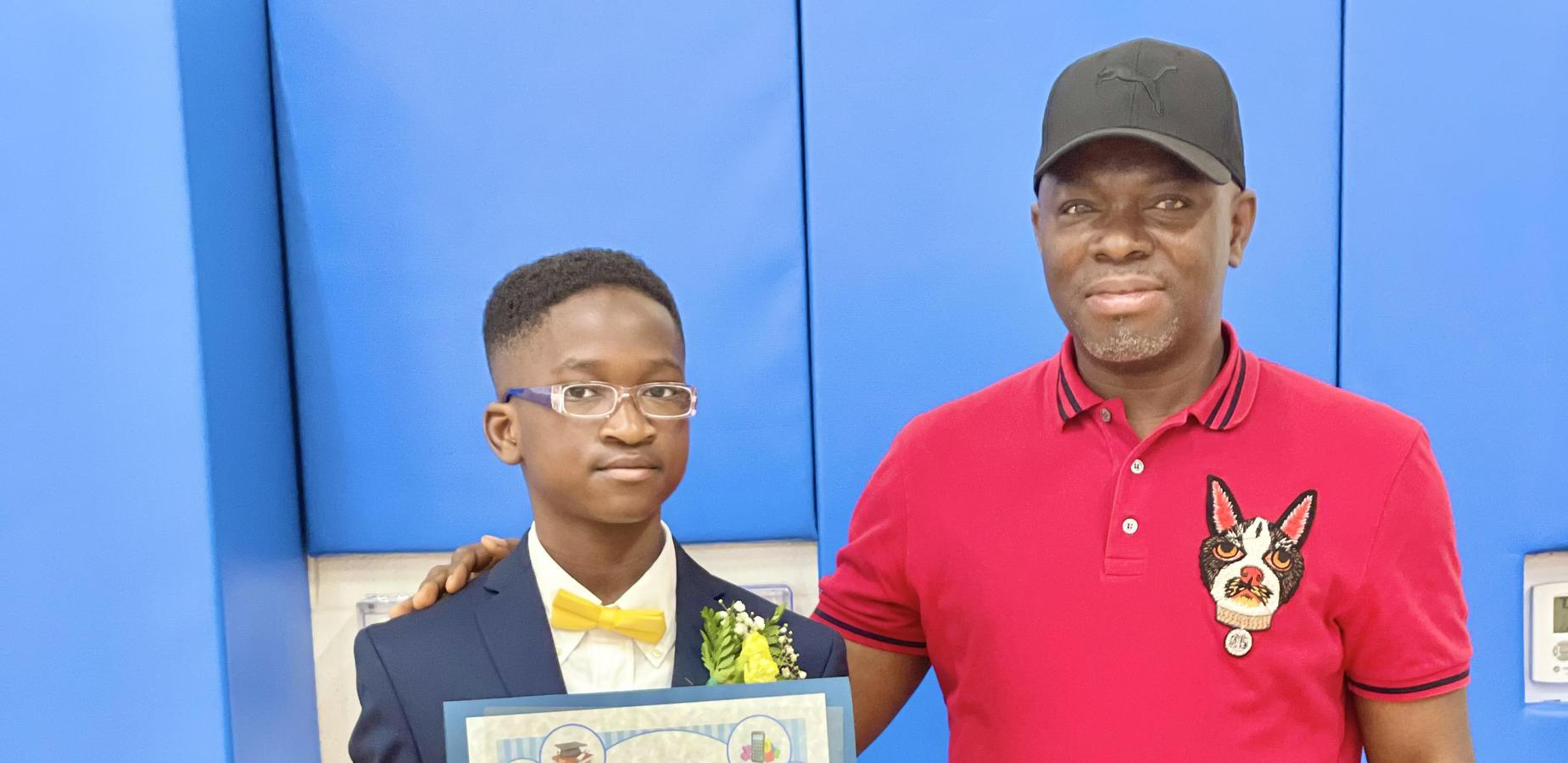 graduate and father