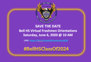 Save the Date Grade 9 Orientations June 6, 2020.png