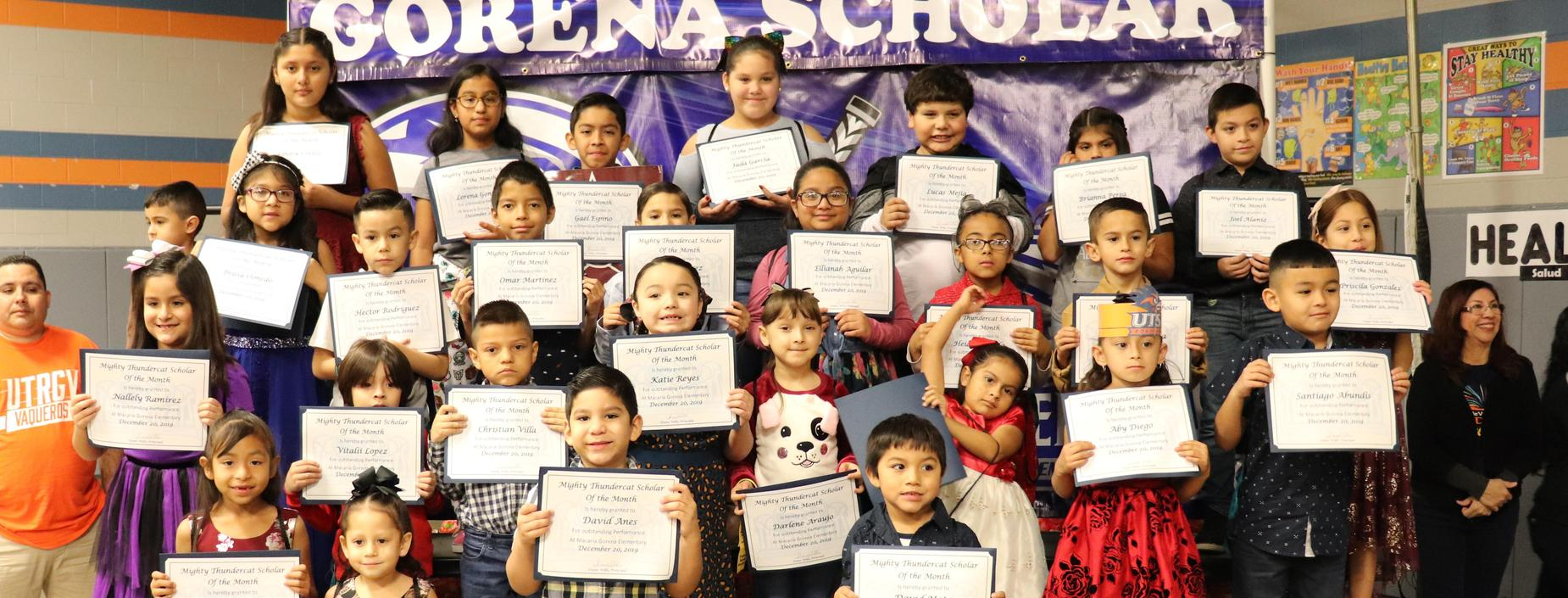 picture of scholars of the month