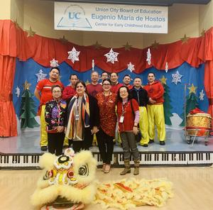 Chinese performers with ECC Admin team