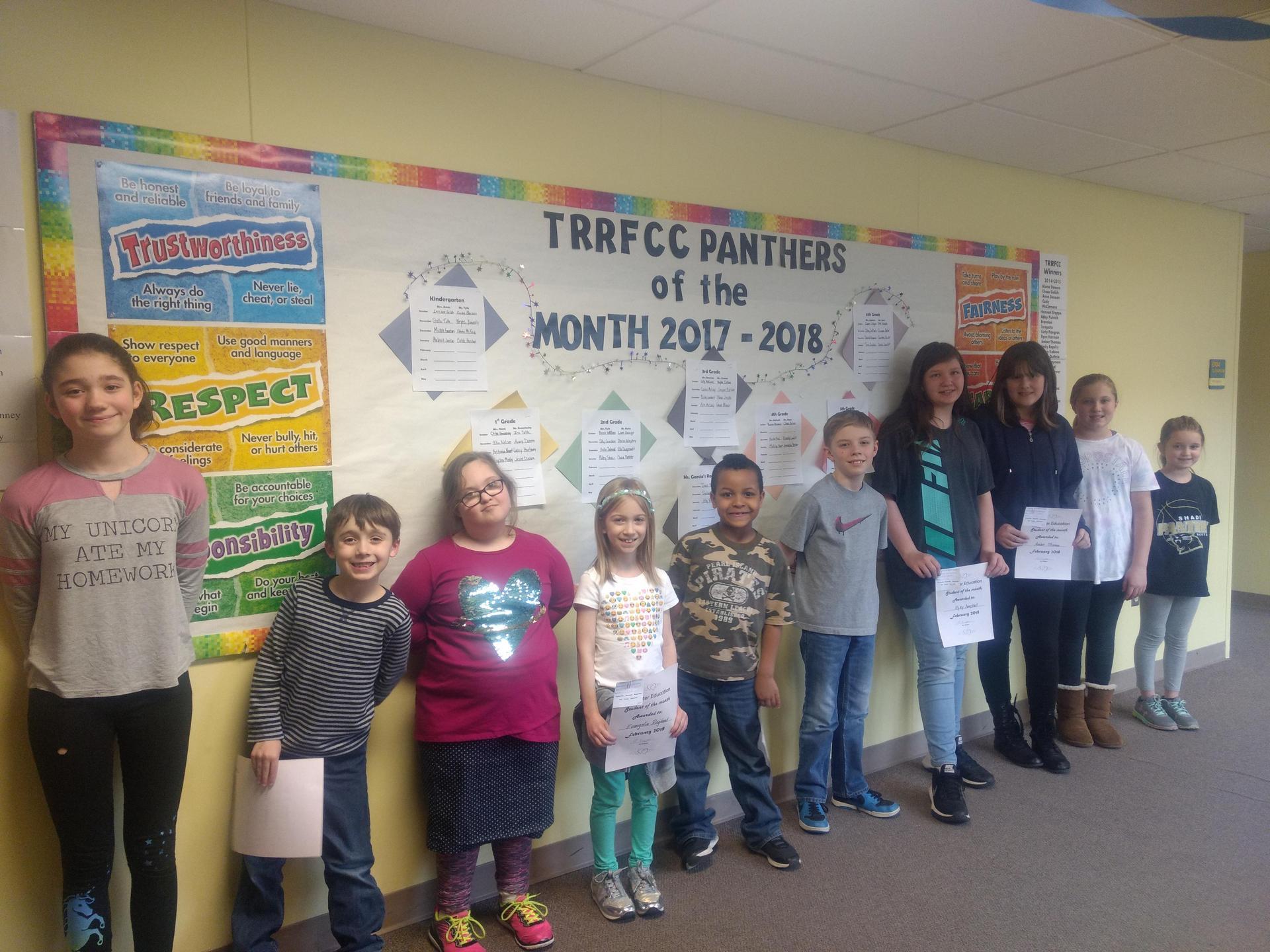February 2018 Winners