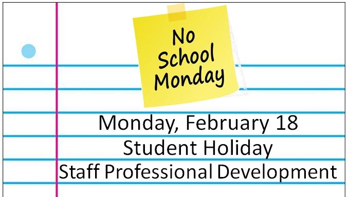 Student Holiday on Monday Thumbnail Image