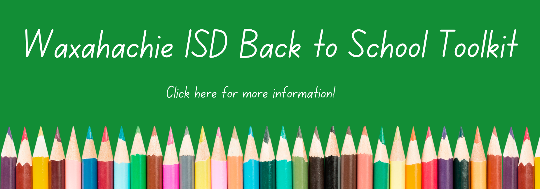 graphic with colored pencils reads back to school toolkit