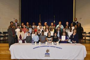 Members of the WOS Elementary 2018-2019 National Honor Society