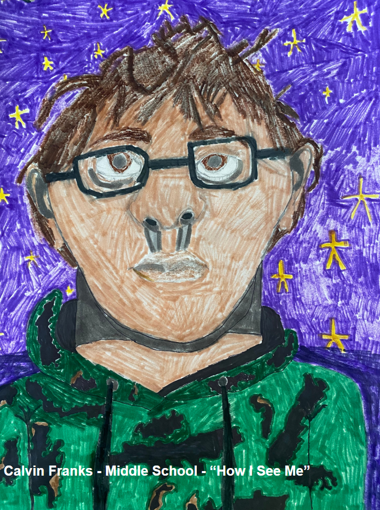 Middle School Project - Calvin Franks - Self Portrait