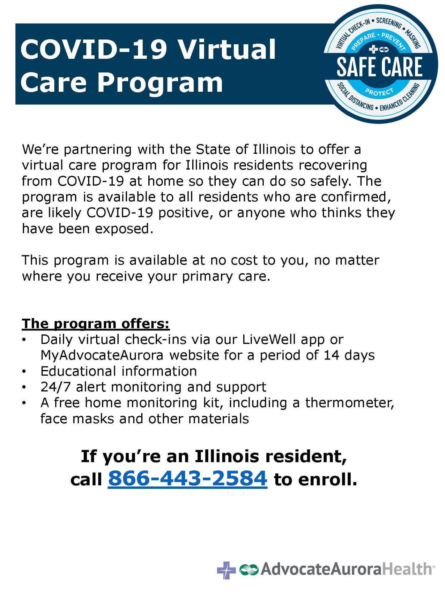 COVID 19 Virtual Care Program
