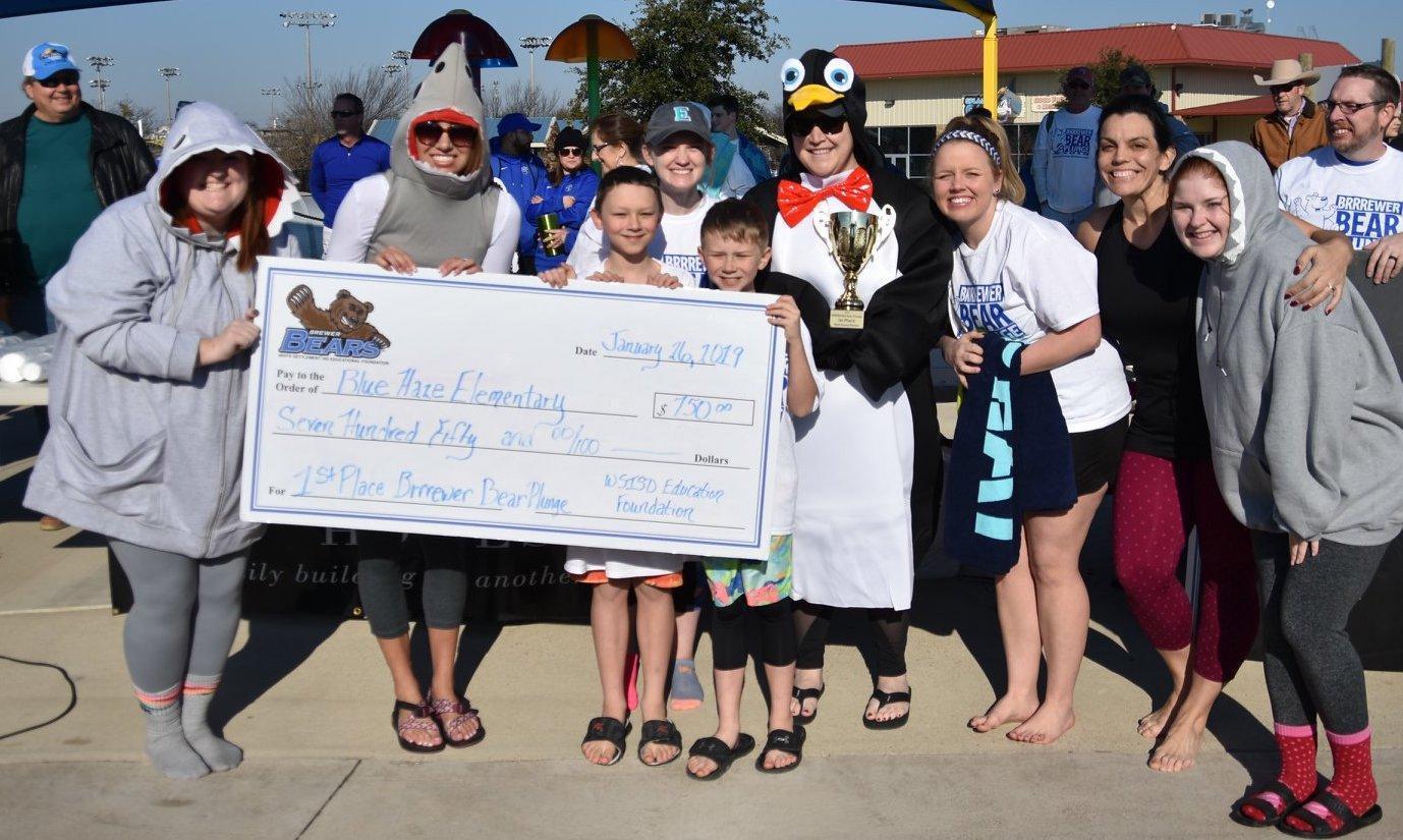 Blue Haze Elementary 1st place prize winner for most money raised