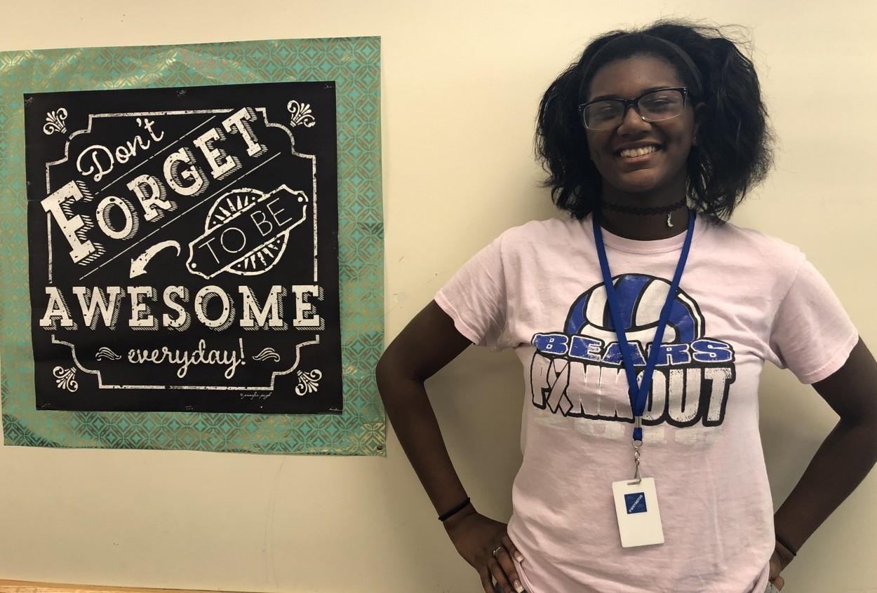 Brewer High School student Tonii Robinson-Grant won second place for her entry in the Children's and Adults' Mental Health Awareness Writing Contest.