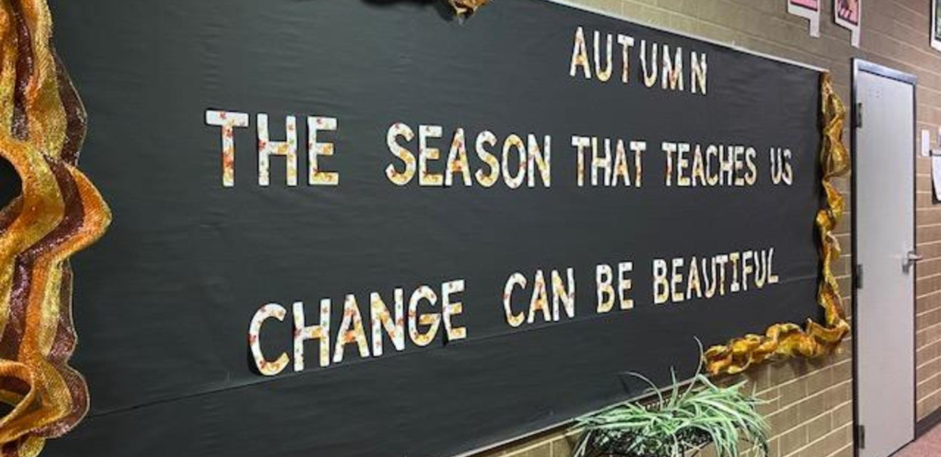 Autumn/Change is Beautiful Bulletin Board