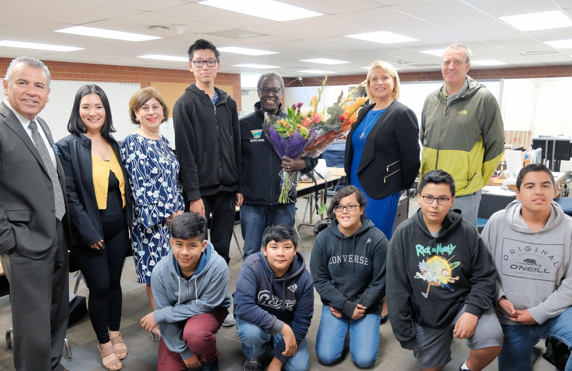 Please join us in congratulating the #PUSD #2019TeacheroftheYear! David Moss has been teaching #Music and #Band at Fremont Academy of Engineering & Design! We #Honor you today for the difference you make for our students! Mr. Moss is truly an inspiration to us all. #Proud2bepusd