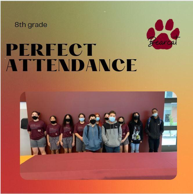 Perfect Attendance - 8th grade Featured Photo