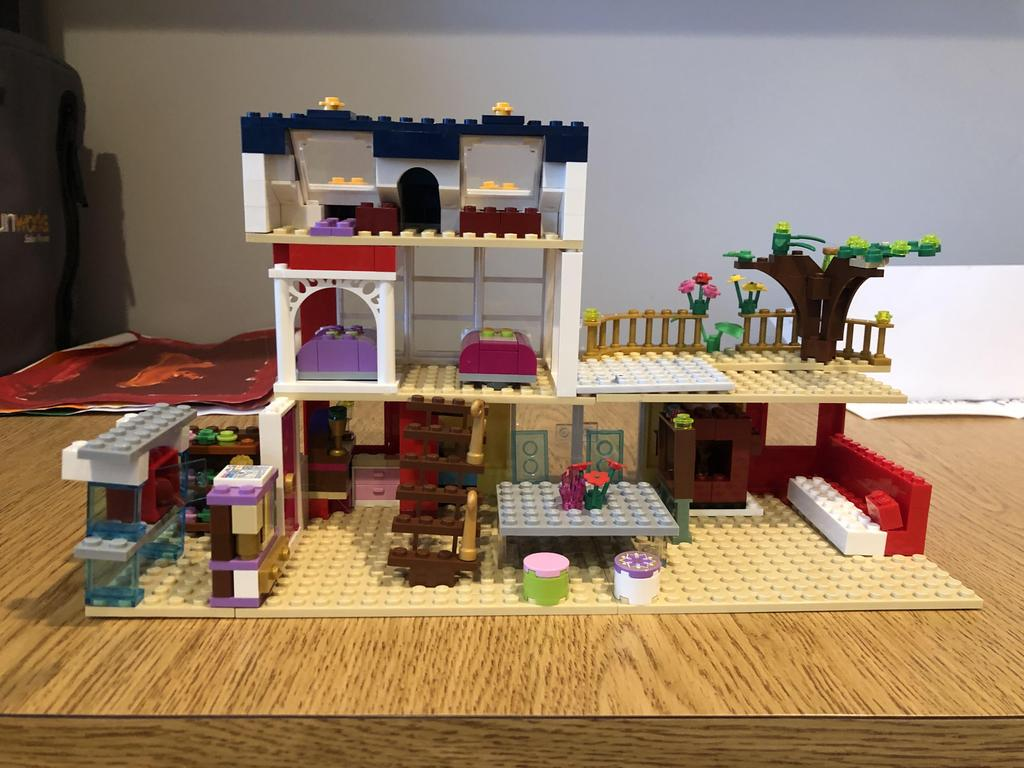 multi sotry lego house shown from back