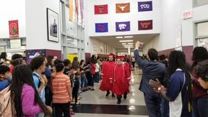MHS Senior Honor Walk at elementary and middle schools
