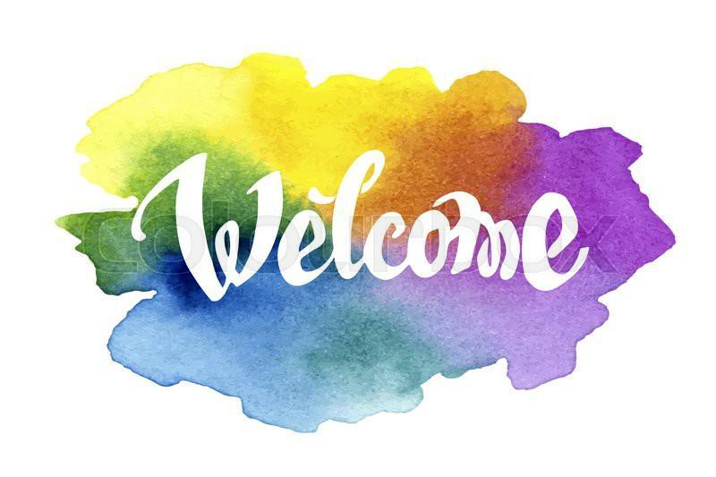 watercolor welcome