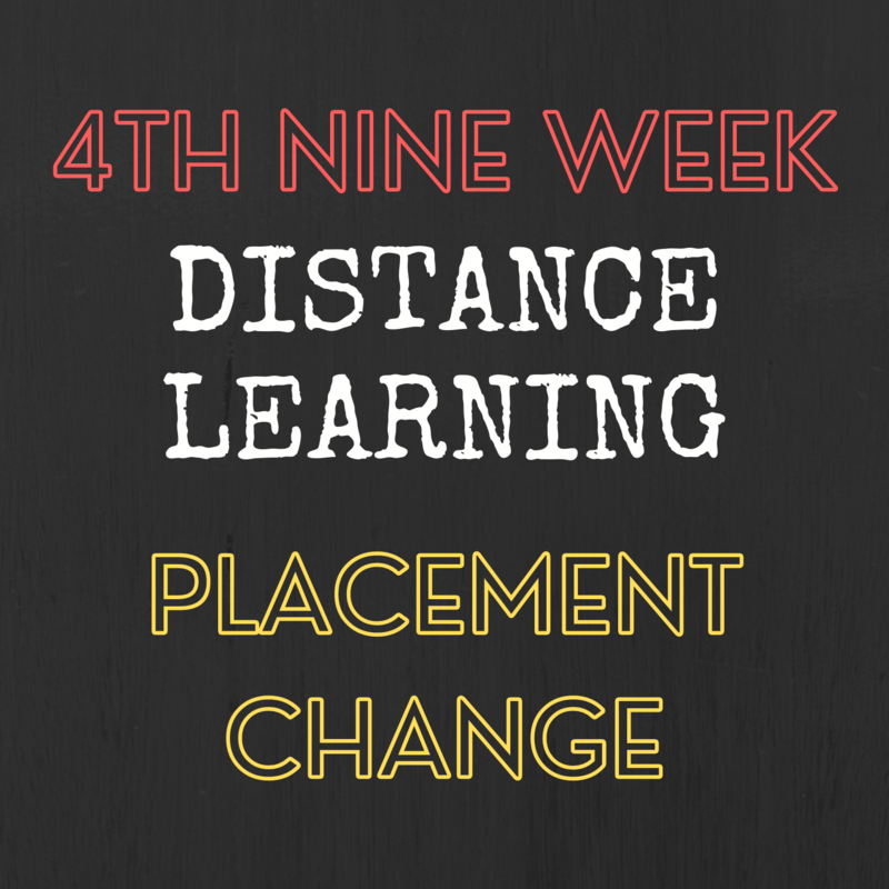 DISTANCE LEARNING FOR 4TH NINE WEEKS Thumbnail Image