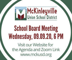 Flyer for Board Meeting on 9.9.20