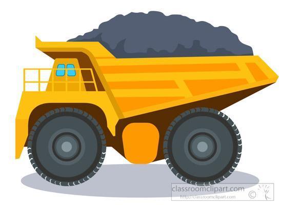 Yellow Dump Truck carrying dirt