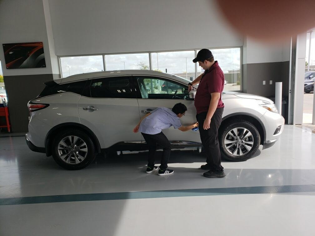 Two Team Members working at Nissan