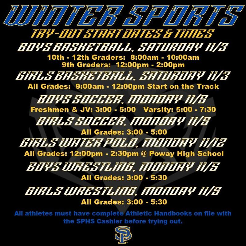 Winter Sport Tryout Information Thumbnail Image