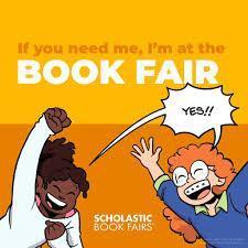 I am at the book fair