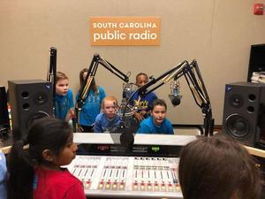 Students in the ETV studio
