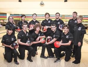 Pictured: HHS boys bowling team.