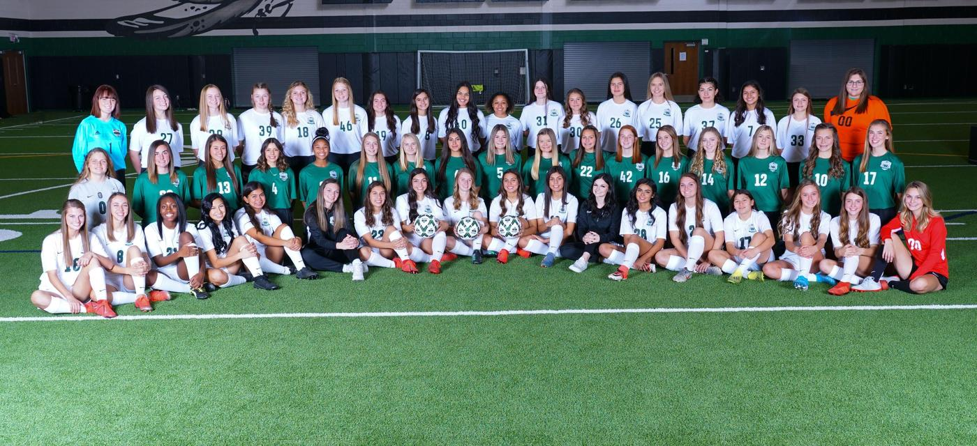 Lady Indian Soccer teams all together