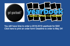 Order a Yearbook for $30 by May 24