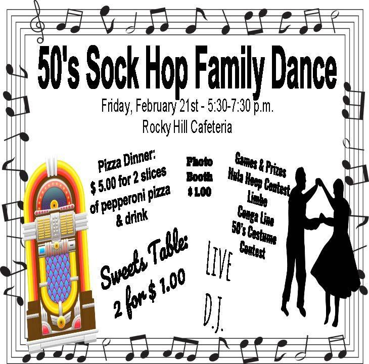 Sock Hop Flyer- English