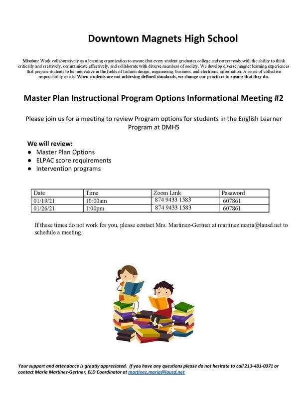 Master Plan Parent Meeting #2 Featured Photo