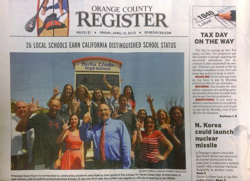 YLHS is now a California Distinguished School