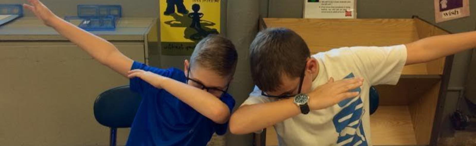 Students Dabbing
