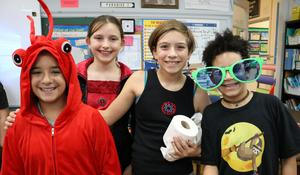 Photo of McKinley student dressed up for Halloween.