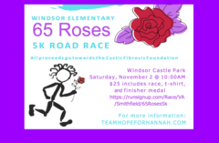 Register for the 65 Roses 5K Nov. 2, 2019