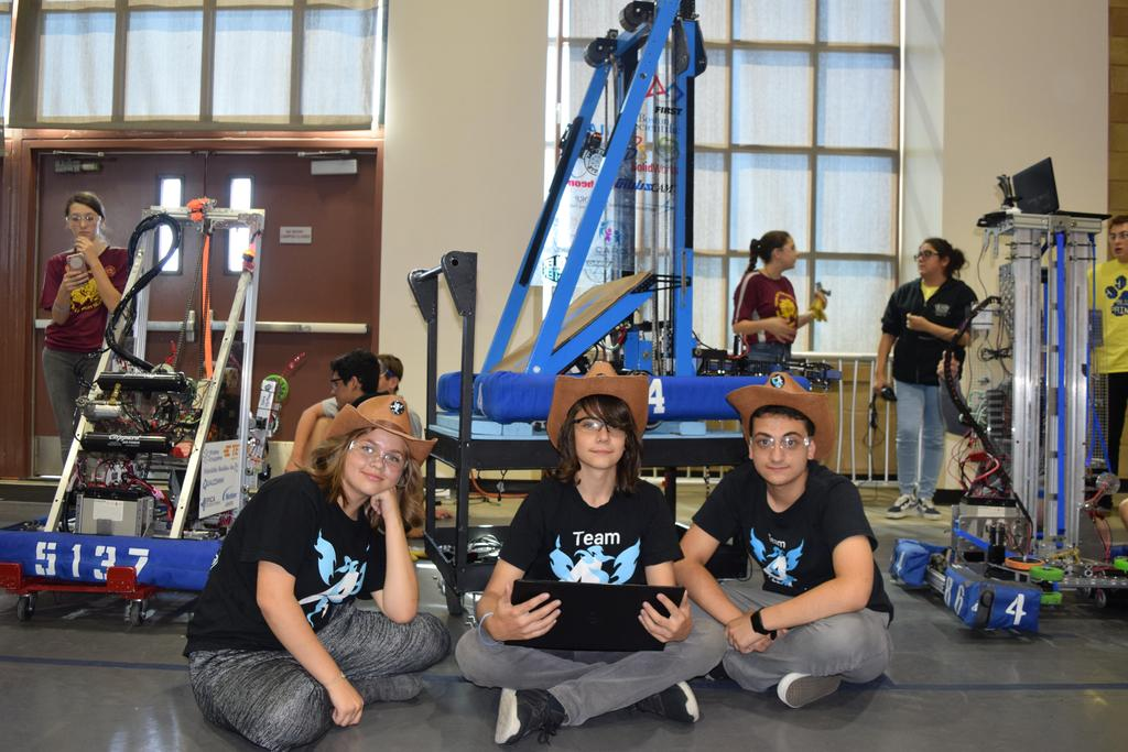 Drive team waiting to take robot on to the field
