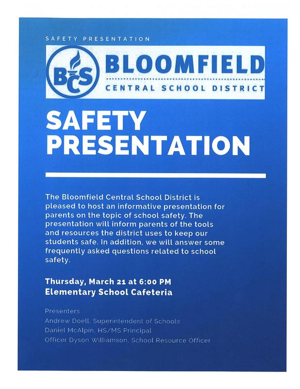Safety presentation information