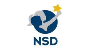 Horizontal Nampa School District Logo - two children holding aloft a star