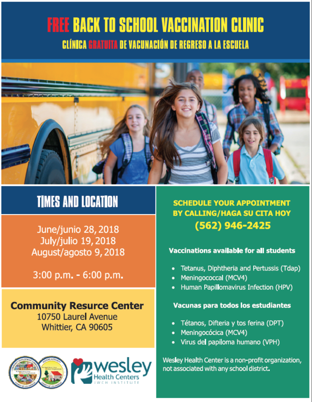 FREE BACK TO SCHOOL VACCINATION CLINIC Featured Photo