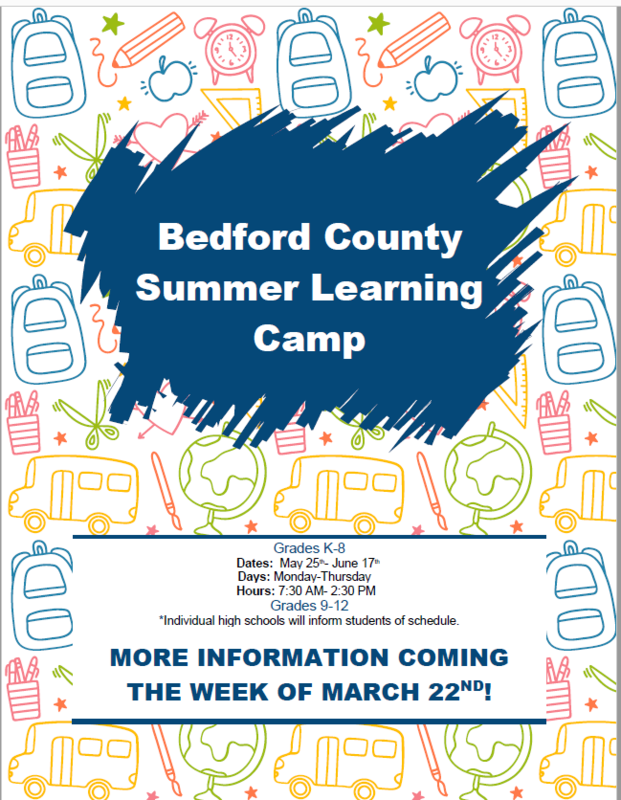 Bedford County Summer Learning Camp Featured Photo