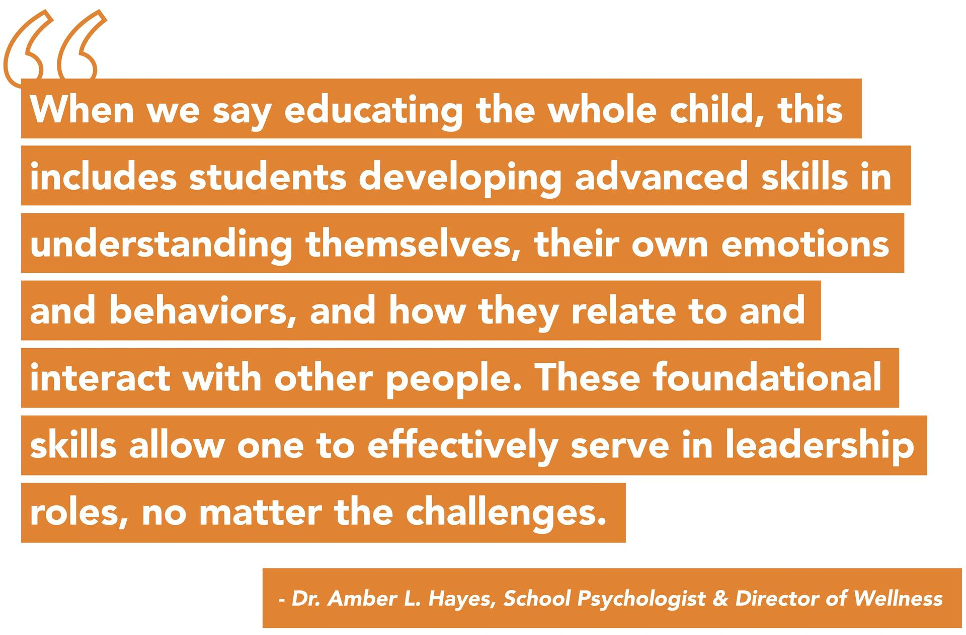 Wellness quote from Dr. Amber Hayes