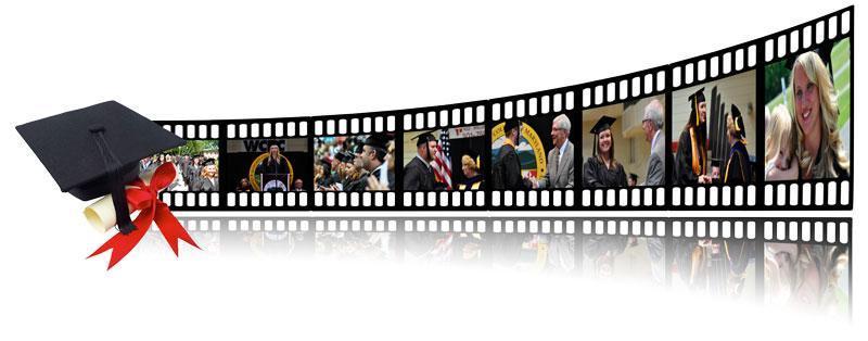 graduation film strip picture