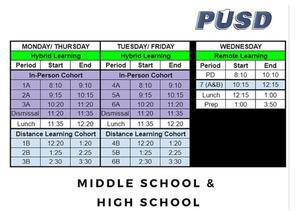 Hybrid School Schedule
